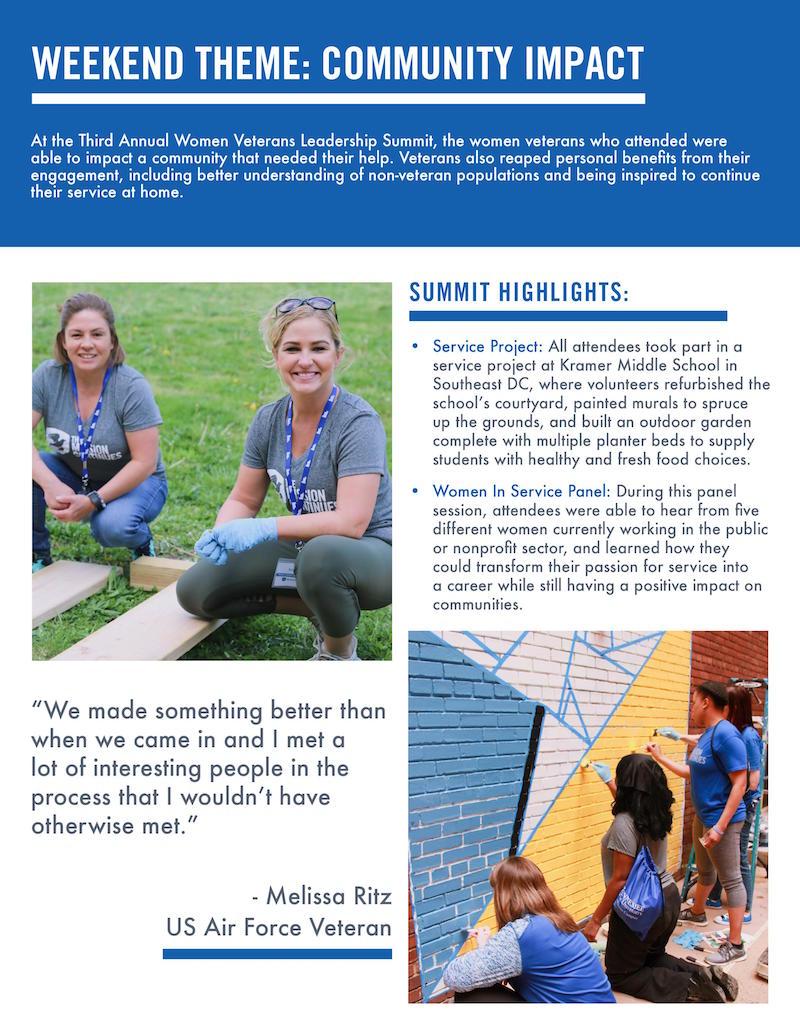 Women Veterans Leadership Summit 2018 Impact Report