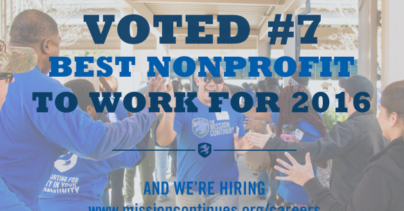 A Best Nonprofit to Work For in 2016
