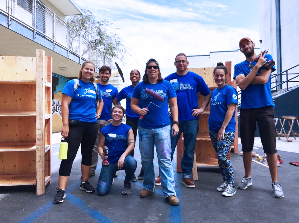 The Mission Continues veteran volunteers