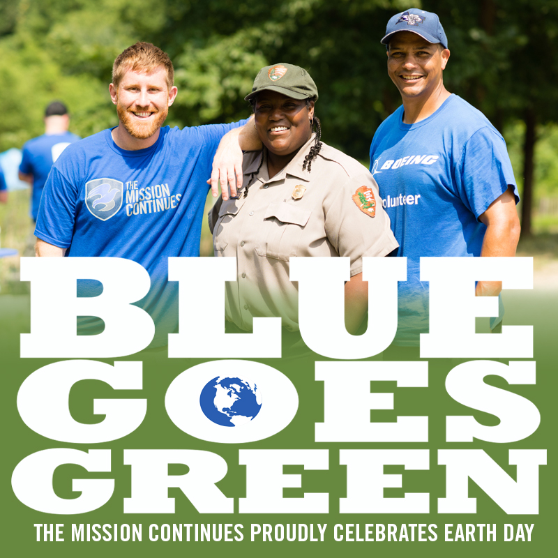 Blue Goes Green for Earth Day!