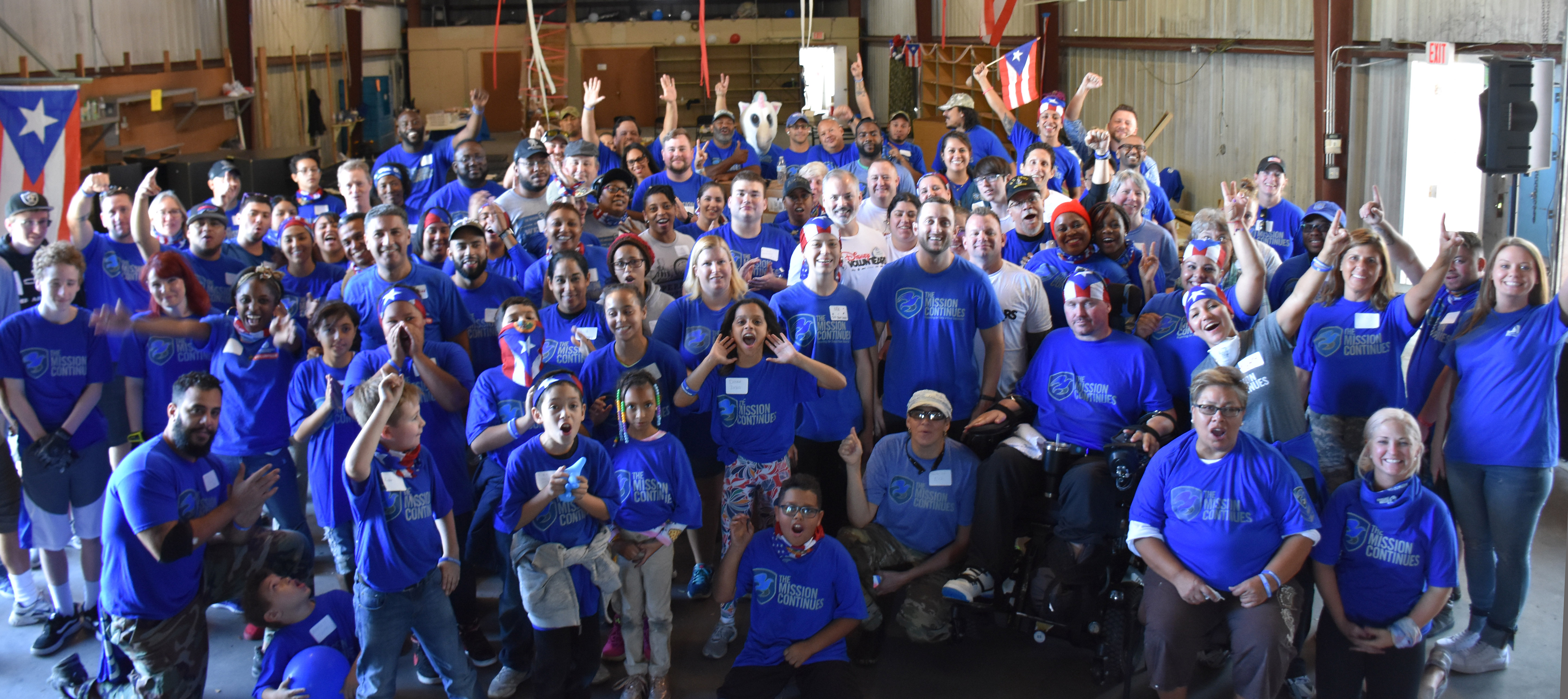 Six veteran-led service platoons and over 100 veterans from across Florida and Puerto Rico rallied in Orlando to help families displaced by Hurricane Maria in honor of Veterans Day as they transition to long-term housing.