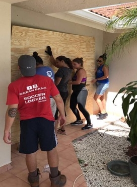 Volunteers from The Mission Continues in Florida after Hurricane Irma