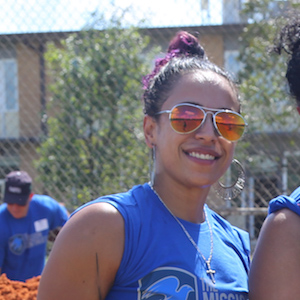 Yaritza Perez, veteran volunteering with The Mission Continues