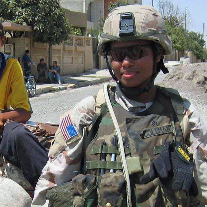 Nia Coleman during her first tour in Iraq.