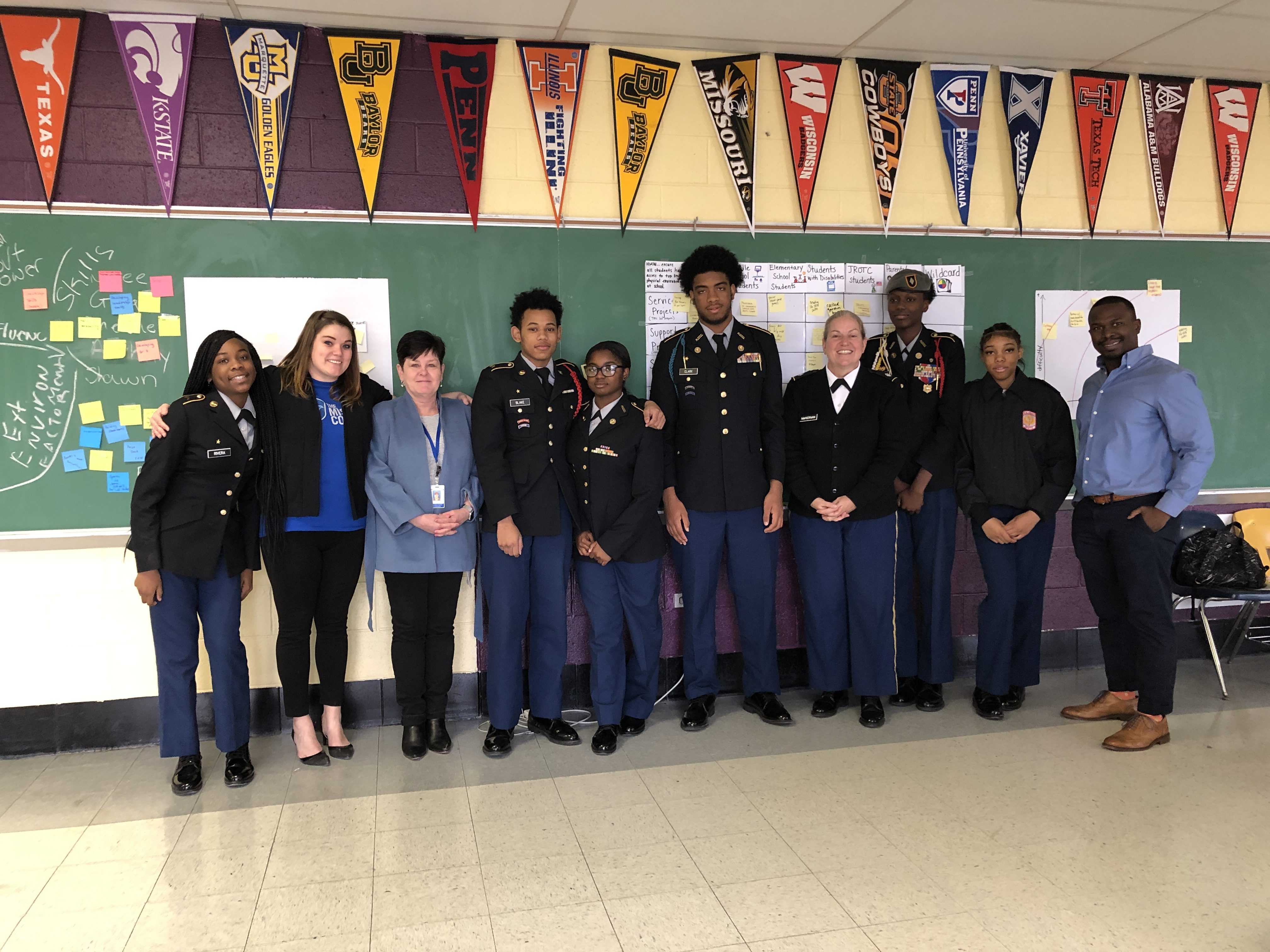 Philadelphia 1st Service Platoon Expands Operation with the Help of JROTC Students