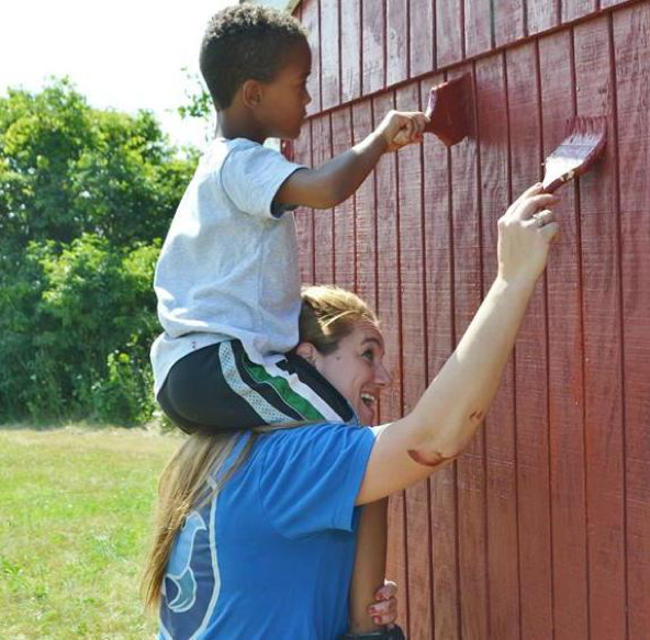 Mother And Son Team Up To Serve Others