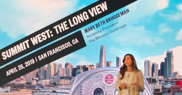 Mary Beth Bruggeman speaks at the 2019 NationSwell Summit West