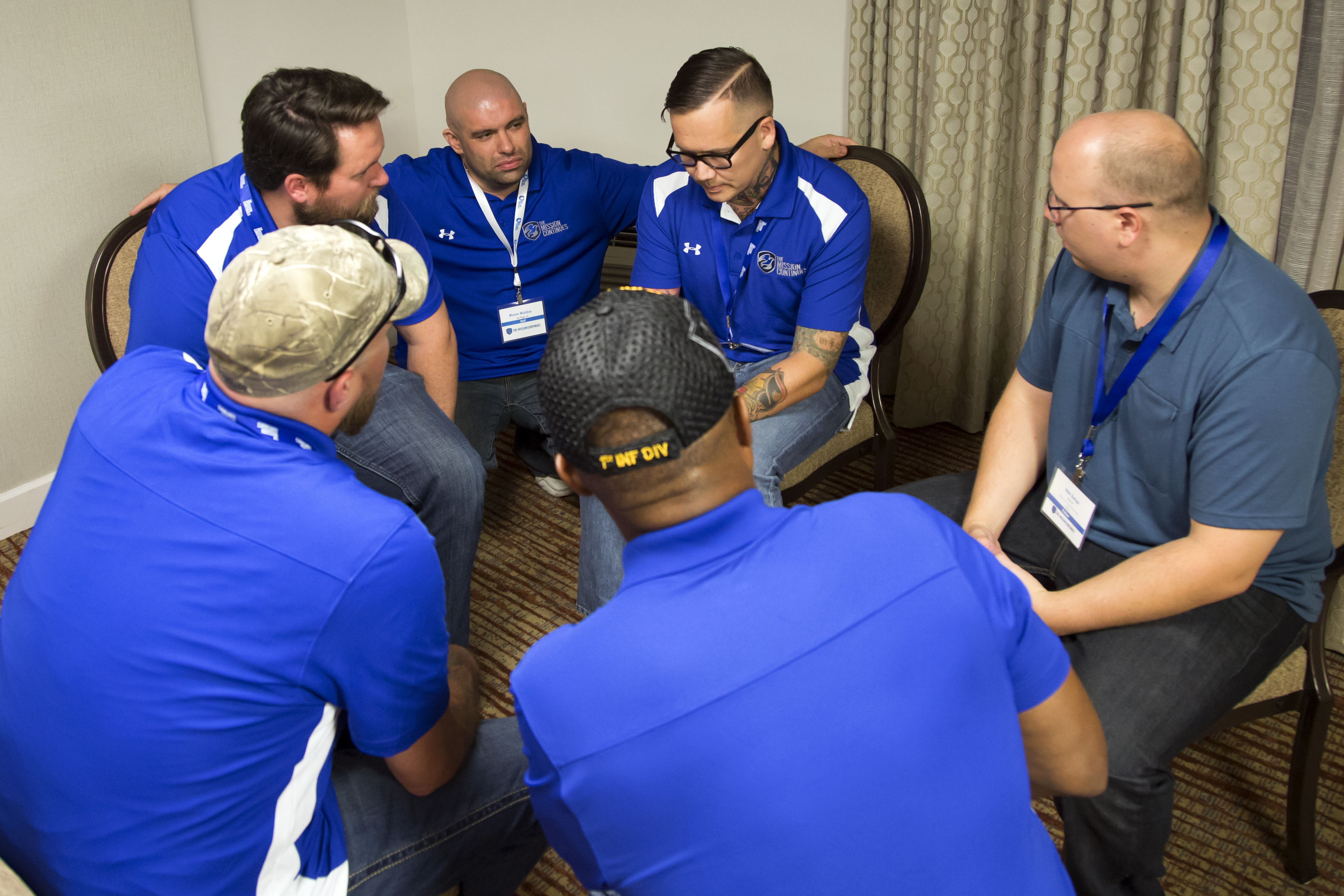 Veterans share a candid conversation during a breakout session.